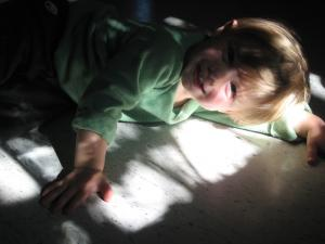Sylvan loves the tree shadows