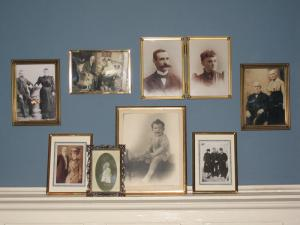 Dad's family, displayed on the wall