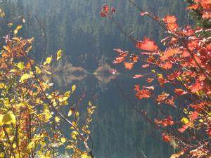 Clear Lake with autumn foliage