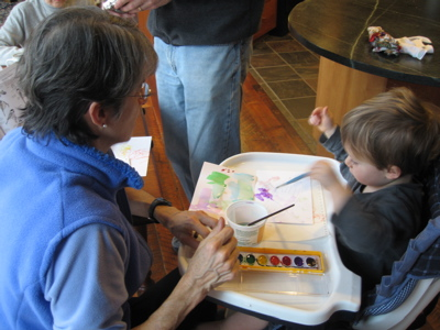 painting with grandma diana