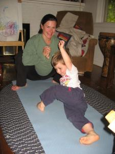 Sylvan helps Mommy induce labor through yoga