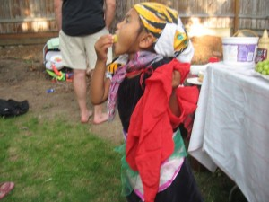 The photo I asked for - Tejana in scarves.