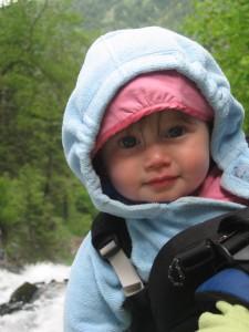 Elena at the waterfall