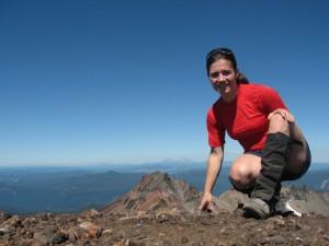 On the summit. Nice gaiters, NOLSie.