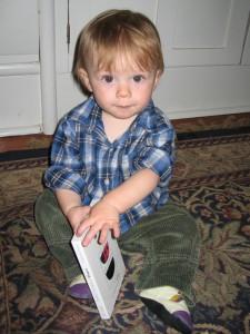 First birthday: reading a birthday book