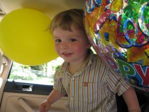 Second birthday: balloon madness